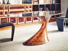 Tavolo ovale in legno masselloBEND | Tavolo in legno - ANNIBALE COLOMBO