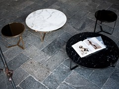 - Low round marble coffee table CAGE | Round coffee table - Tacchini Italia Forniture