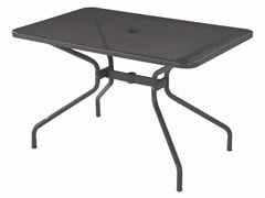 - Rectangular steel garden table CAMBI | Rectangular table - EMU Group S.p.A.