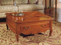 - Square cherry wood coffee table CANALETTO | Low coffee table - Arvestyle