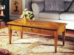 - Rectangular cherry wood coffee table CANALETTO | Rectangular coffee table - Arvestyle