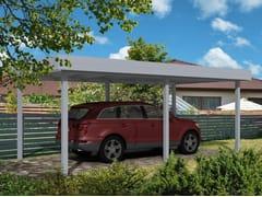 Pensilina per posto autoCarport a tetto piano - GARDENDREAMS ITALY