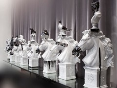 - Ceramic decorative object CAVALLI BIANCHI - ERBA ITALIA