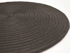 - Handmade round rug CAYMAN PLAIN - Besana Moquette