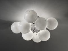 - Lampada da soffitto in cristallo ATOM Ø 55 - Metal Lux di Baccega R. & C.