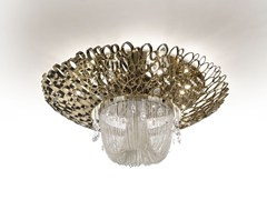 - Metal ceiling light with Swarovski® crystals CHRYSALIS | Ceiling light - IDL EXPORT