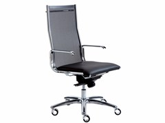 - Height-adjustable executive chair with 5-spoke base with casters TAYLORD MESH | Executive chair - Luxy