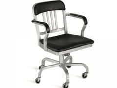 - Sedia in alluminio a 5 razze con ruote NAVY® UPHOLSTERED | Sedia a 5 razze - Emeco
