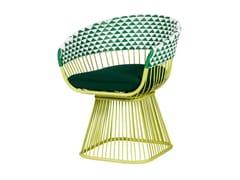 Sedia da giardino imbottita in alluminio con braccioliHARPER | Sedia con braccioli - 7OCEANS DESIGNS