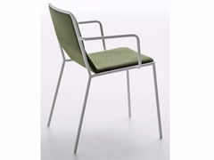 - Upholstered fabric chair with armrests TRES / P - Debi
