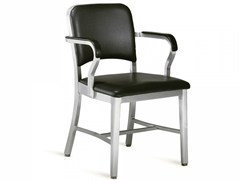 - Upholstered chair with armrests NAVY® UPHOLSTERED | Chair with armrests - Emeco