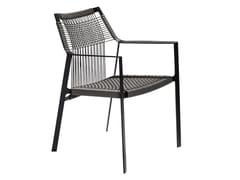 Sedia da giardino in Canax® con braccioliNODI   Sedia con braccioli - TRIBÙ