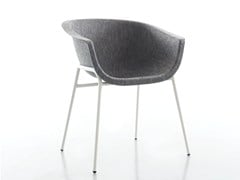 - Upholstered fabric chair with armrests CHAIRMAN METAL | Chair - conmoto by Lions at Work