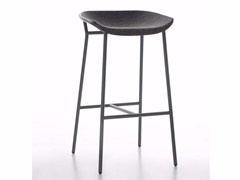 - High fabric stool with footrest CHAIRMAN METAL | Stool - conmoto by Lions at Work