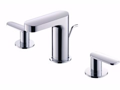 - 3 hole countertop chromed brass washbasin tap CHARMING | 3 hole washbasin tap - JUSTIME