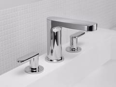 - 3 hole countertop chromed brass washbasin tap CHARMING PLUS | 3 hole washbasin tap - JUSTIME