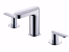 - 3 hole countertop chromed brass washbasin tap CHARMING | Washbasin tap - JUSTIME