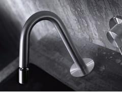 - Deck-mounted stainless steel bidet spout CHB1 - TKI - Radomonte