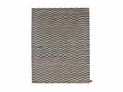 - Handmade wool rug with geometric shapes CHECK 2 - cc-tapis ®