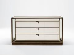 Cassettiera modulare in legno e vetroTOWN | Cassettiera - GIORGETTI