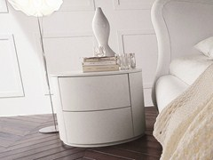 - Lacquered bedside table with drawers CHRISTAL | Lacquered bedside table - Dall'Agnese