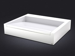 - Countertop rectangular resin washbasin CINCO | Countertop washbasin - Vallvé Bathroom Boutique
