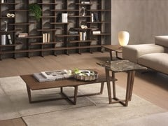 - Rectangular coffee table CITY | Wood veneer coffee table - Pacini & Cappellini