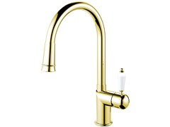 - Stainless steel kitchen mixer tap with pull out spray CLASSIC LINE CL-260 - Nivito