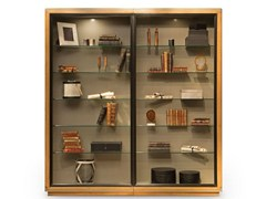 - Wood veneer display cabinet CLARIDGE   Display cabinet - ROCHE BOBOIS