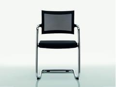 - Cantilever fabric chair CLASSE | Fabric chair - Quadrifoglio Sistemi d'Arredo