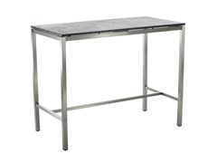 - Rectangular ceramic high table CLASSIC STAINLESS STEEL | High table - solpuri