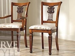 - Sedia in legno massello con schienale aperto VIVRE LUX | Sedia - Arvestyle