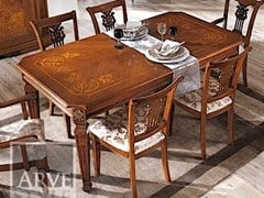 - Rectangular solid wood table VIVRE LUX | Extending table - Arvestyle