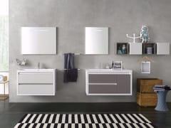 - Laminate bathroom cabinet / vanity unit CLEVER - Composizione 1 - INDA®