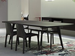 - Rectangular wood veneer table CLIPPER | Table - Poliform