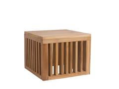 Tavolino da giardino quadrato in teakCODE | Tavolino in teak - IL GIARDINO DI LEGNO