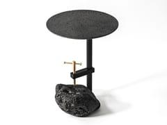 Tavolino rotondo in pietra lavicaME | Tavolino - BUZAO