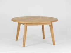- Tavolino da caffè da giardino rotondo in teak PORTSEA | Tavolino da caffè - 7OCEANS DESIGNS