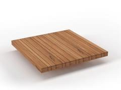 Tavolino basso quadrato in teakPLATEAU | Tavolino - SOLPURI