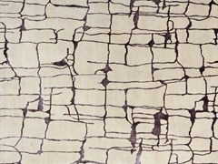 - Handmade rectangular rug COLOMBO PURPLE - EDITION BOUGAINVILLE