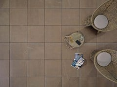 - Outdoor floor tiles with stone effect COLOSSEO PORPHYRBRAUN - GRANULATI ZANDOBBIO