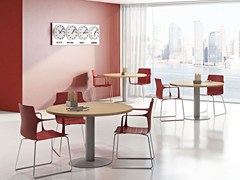 - Round melamine-faced chipboard contract table COMPACT C11S/Z/C - Arcadia Componibili - Gruppo Penta