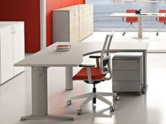 - L-shaped melamine-faced chipboard workstation desk COMPACT C1616DXZ - Arcadia Componibili - Gruppo Penta