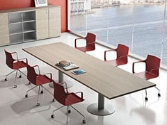 - Rectangular melamine-faced chipboard meeting table COMPACT | Meeting table - Arcadia Componibili - Gruppo Penta