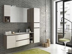 - Lacquered wall-mounted vanity unit MODULAR 10 - LEGNOBAGNO