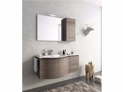 - Wall-mounted vanity unit with doors MODULAR 9 - LEGNOBAGNO