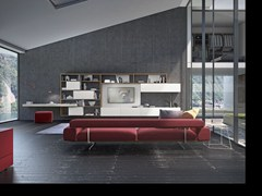 - Sectional wooden storage wall CrossART - 529 - Presotto Industrie Mobili