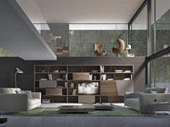 - Sectional lacquered wooden storage wall CrossART - 531 - Presotto Industrie Mobili