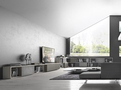 - Sectional lacquered wooden storage wall CrossART - 532 - Presotto Industrie Mobili