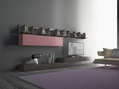 - Sectional wooden storage wall I-modulART_20 - 320 - Presotto Industrie Mobili
